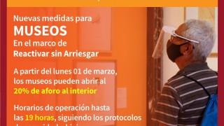 TARJETA INFORMATIVA REAPERTURA DE MUSEOS DE LA SECRETARÍA DE CULTURA CDMX